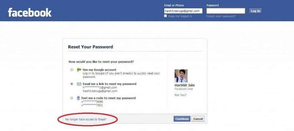 كيفية استرجاع حساب الفيس بوك بدون ايميل او رقم هاتف