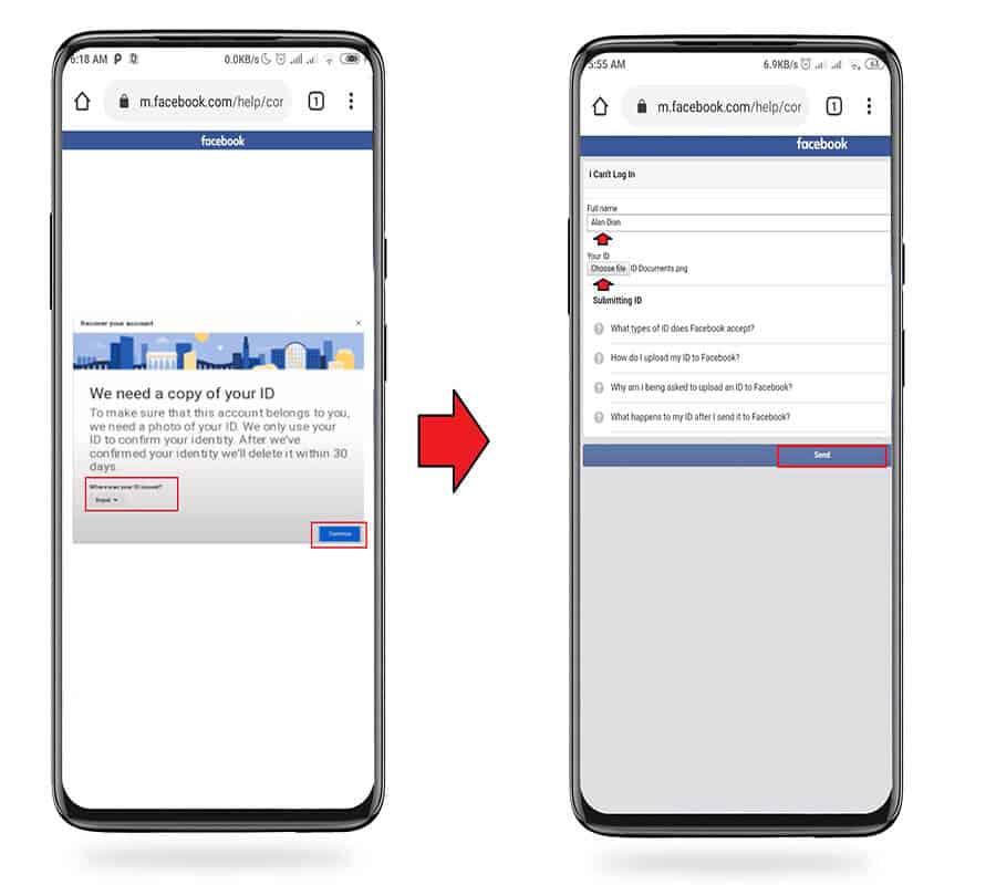 طريقة استرجاع الفيس بوك بدون رقم الهاتف