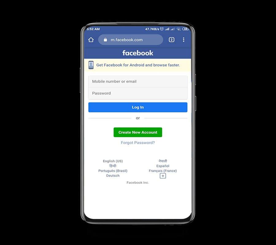 استرجاع حساب فيسبوك بدون رقم الهاتف