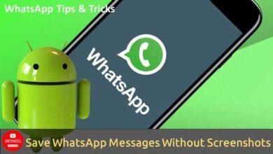 تعرف على كيفية حفظ المحادثات على WhatsApp