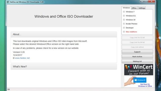 تحميل اداة Windows ISO Downloader