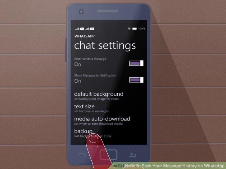 كيفية حفظ المحادثات على هواتف الويندوز
