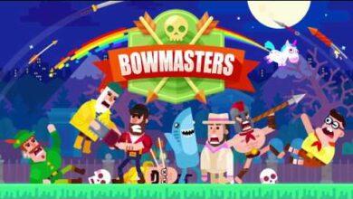 شرح وتحميل لعبة Bowmasters ؛ مبارزة الكرتون