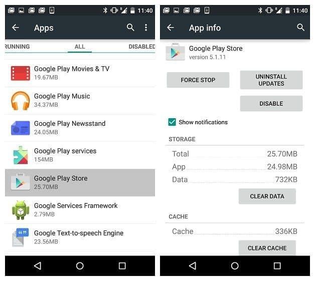 حل مشكلة Google Play التي لا تعمل
