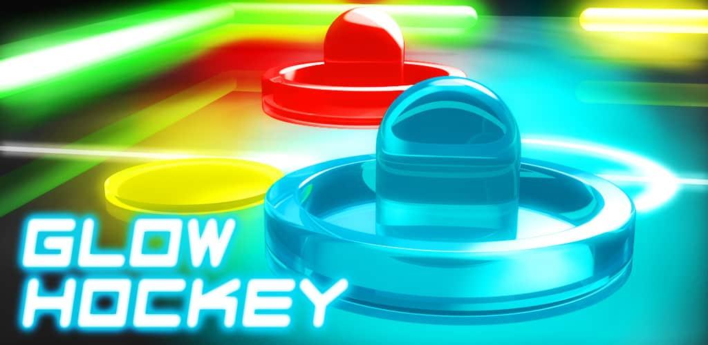 لعبة الاندرويد Glow Hockey 2 ثنائية اللاعبين