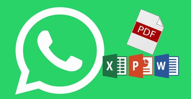 كيفية ارسال ملف pdf عن طريق واتس آب