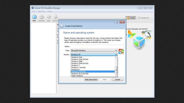 برنامج VirtualBox للكمبيوتر