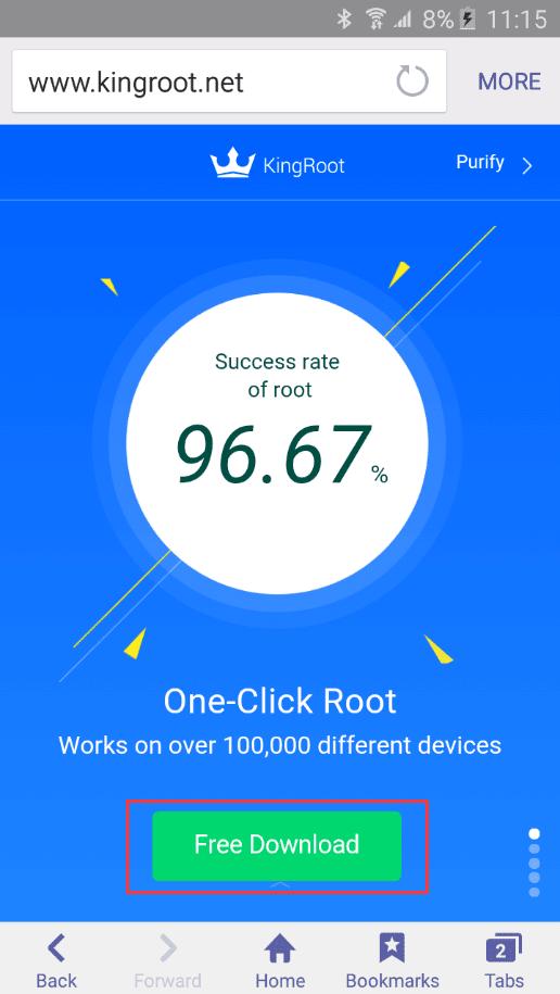 تطبيق King Root