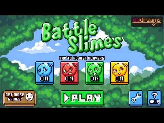 لعبة الاندرويد Battle Slimes ثنائية اللاعبين