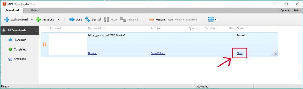 تحميل من اليوتيوب عن طريق برنامج MP4 Downloader Pro