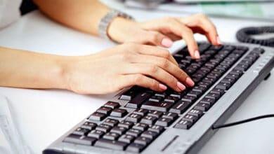 الكتابة السريعة على لوحة المفاتيح (طريقة الكتابة بـ 10 أصابع)