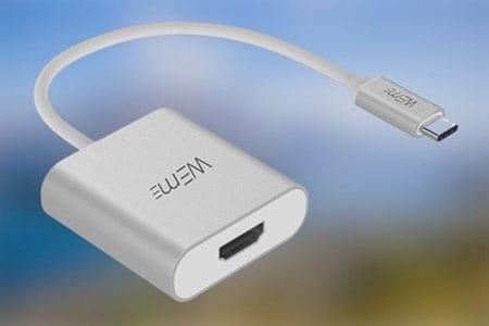 توصيل الكمبيوتر بالتلفزيون باستخدام كبل USB-C